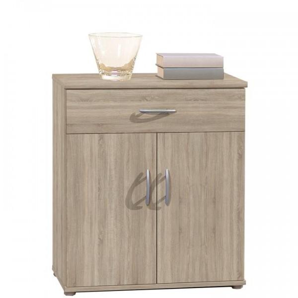 Komoda, 2 dverová s 1 zásuvkou, dub sonoma, LILLY 11