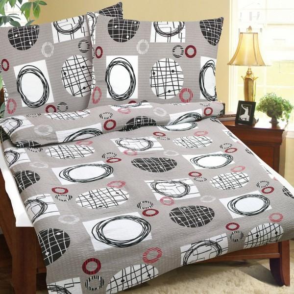 Belaltex Krepové obliečky Hnedé klbká, 240 x 200 cm, 2 ks 70 x 90 cm