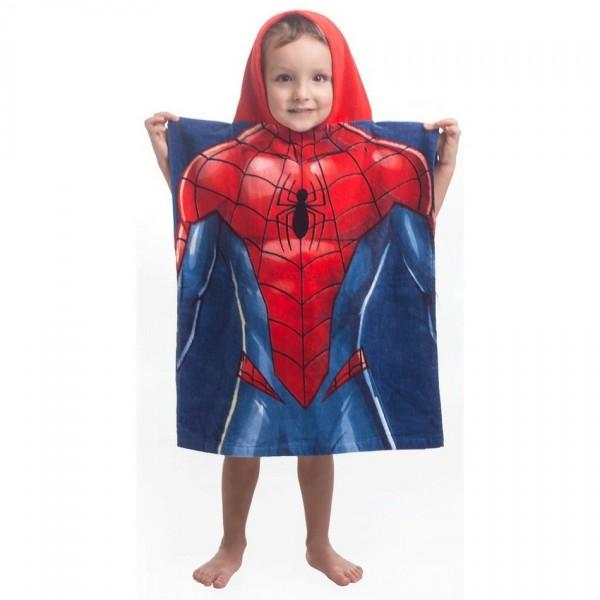 Jerry Fabrics Detské pončo Spiderman blue, 55 x 115 cm