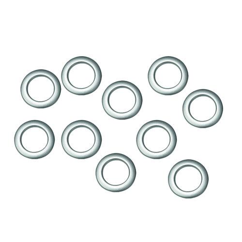 Krúžky látkové strieborné, matné 10 ks