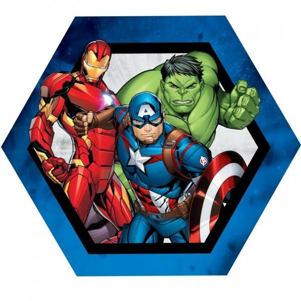 Jerry Fabrics Tvarovaný vankúšik Avengers group, 31 x 24 cm