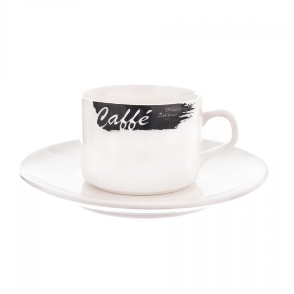 Orion porcelánový šálka s podšálkou Caffé 0,18 l, 2 ks