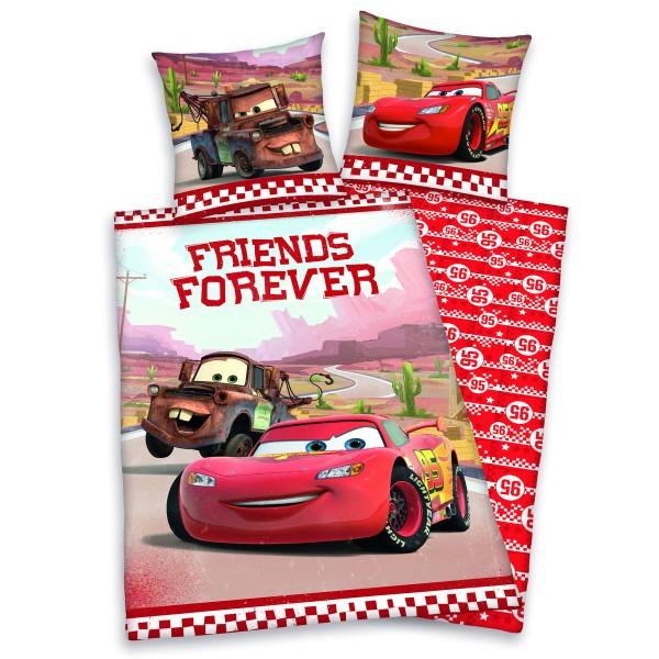 Herding Detské bavlnené obliečky Cars Friends Forever, 140 x 200 cm, 70 x 90 cm