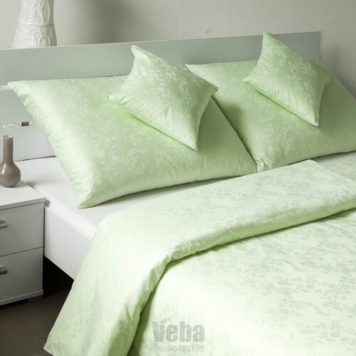 Veba Damaškové obliečky Bohema Pupenec zelená, 140 x 220 cm, 70 x 90 cm, 140 x 220 cm, 70 x 90 cm