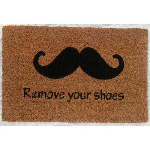Trade Concept Kokosová rohožka Remove your shoes, 40 x 60 cm