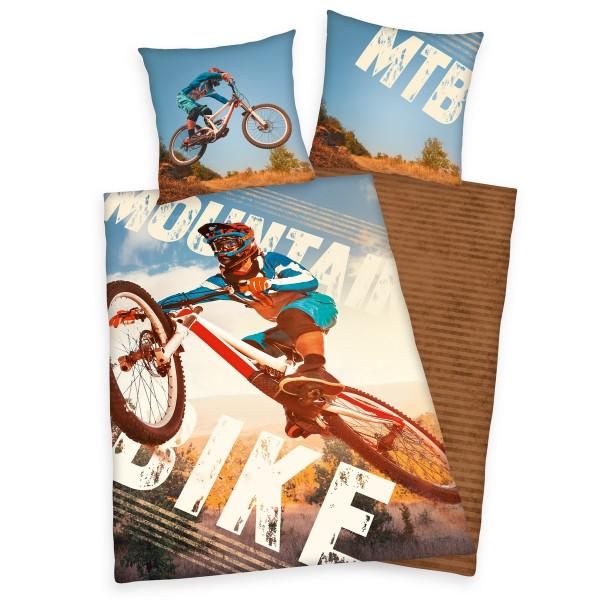 Herding Detské bavlnené obliečky Bike, 140 x 200 cm, 70 x 90 cm
