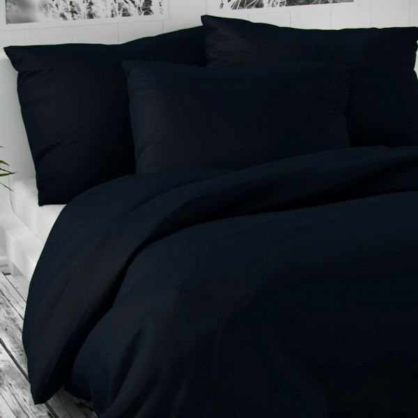 Kvalitex Saténové obliečky Luxury Collection tmavomodrá, 140 x 200 cm, 70 x 90 cm