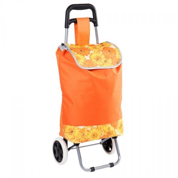 Nákupná taška na kolieskach Daisy oranžová,