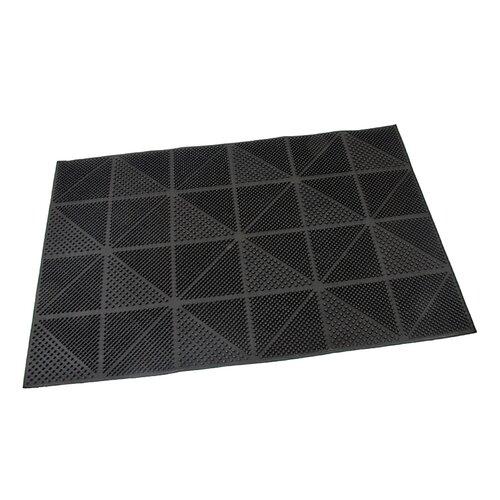 Flomat Vonkajšia rohožka kefová Triangles, 40 x 60 cm
