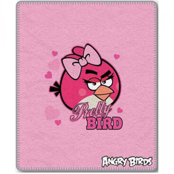 Jerry Fabrics Detská deka Angry Birds 046, 120 x 150 cm