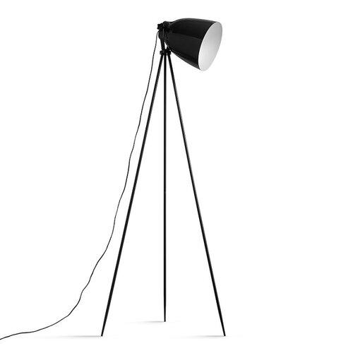 Tempo Kondela Stojaca lampa Cinda 5, čierna