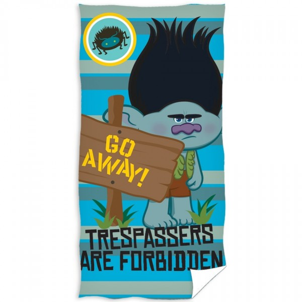 TipTrade Osuška Trolls Go away!, 70 x 140 cm
