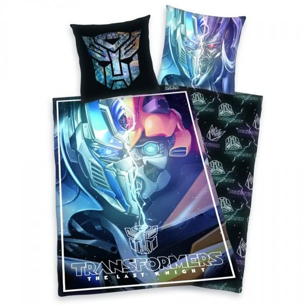 Herding Detské bavlnené obliečky Transformers Posledný rytier, 140 x 200 cm, 70 x 90 cm