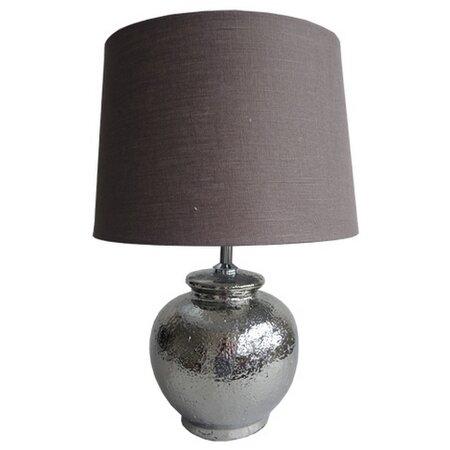 Stardeco Stolná lampa strieborná 45 cm