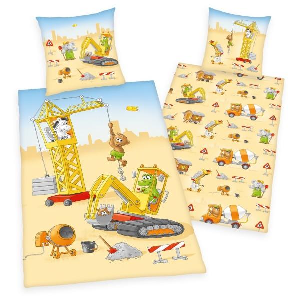 Herding Detské bavlnené obliečky Malý staviteľ, 140 x 200 cm, 70 x 90 cm