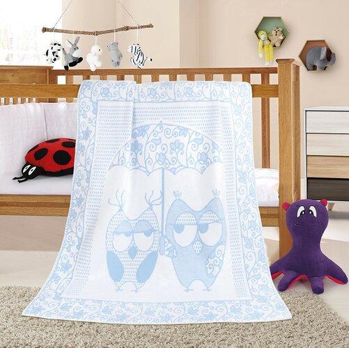 Bellatex Detská deka Nela Sova modrá, 100 x 140 cm