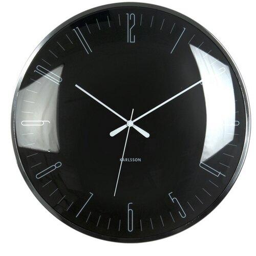 Karlsson 5623BK Designové nástenné hodiny, 40 cm