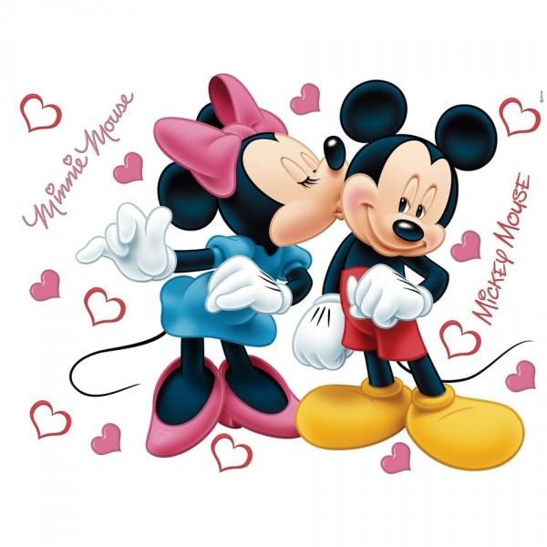 AG Art Samolepiaca dekorácia Minnie a Mickey, 42,5 x 65 cm