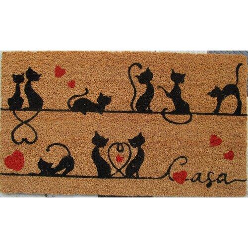 Trade Concept Kokosová rohožka Mačky, 40 x 70 cm