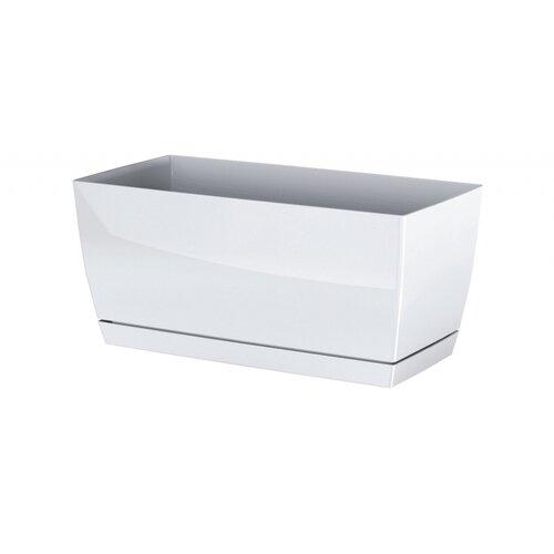 Prosperplast Plastový truhlík Coubi Case s miskou biela, 24 cm, 24 cm