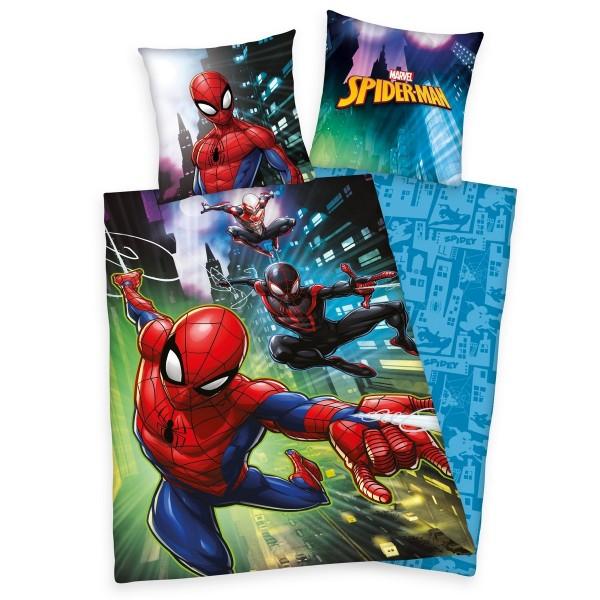 Herding Detské bavlnené obliečky Spiderman, 140 x 200 cm, 70 x 90 cm