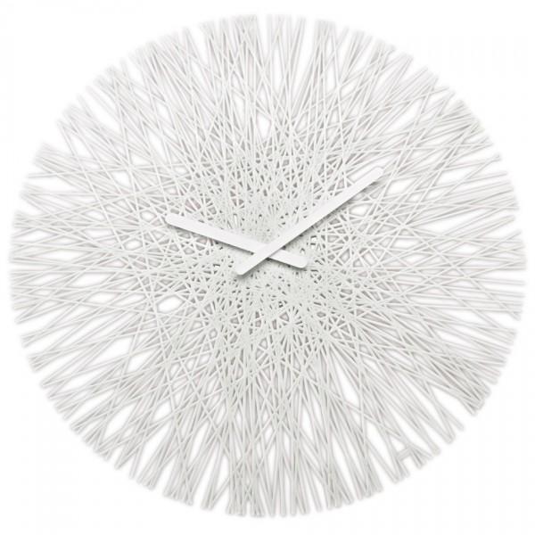 Koziol Nástenné hodiny Silk biela, pr. 45 cm
