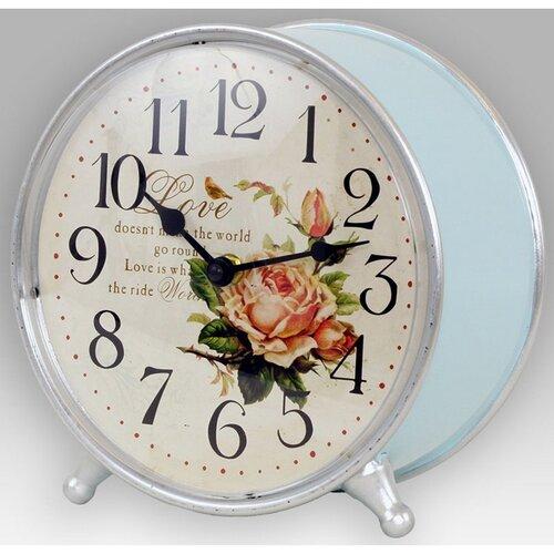 Stolné hodiny Romantic rose, pr. 21 cm