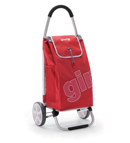 Gimi World Galax nákupná taška na kolieskach červená