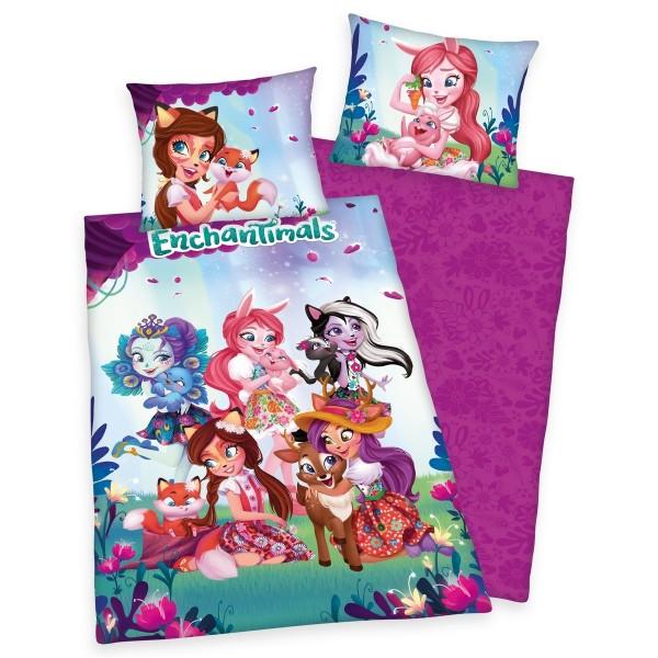 Herding Detské bavlnené obliečky Enchantimals, 140 x 200 cm, 70 x 90 cm