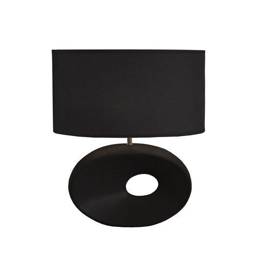 Tempo Kondela Keramická stolná lampa Qenny 10, čierna