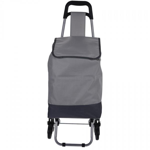 Koopman Nákupná taška na kolieskach Mindelo, sivá