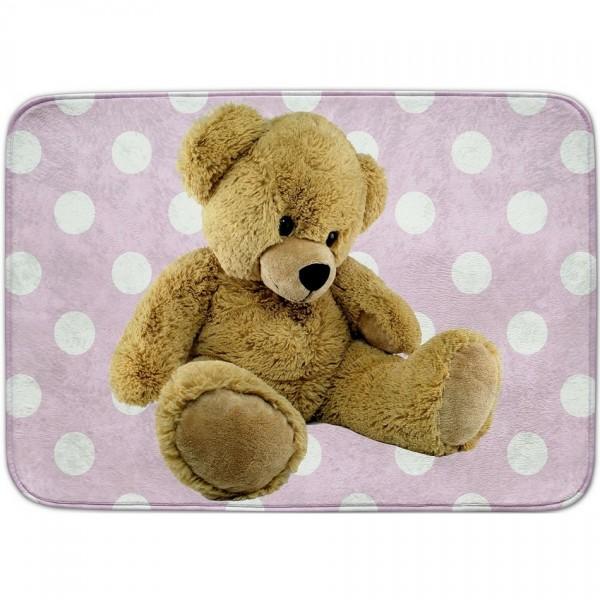 Vopi Detský koberec Ultra Soft Medvedík ružová, 130 x 180 cm