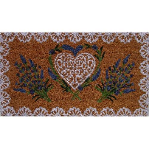 Trade Concept Kokosová rohožka Lavender Heart, 40 x 70 cm