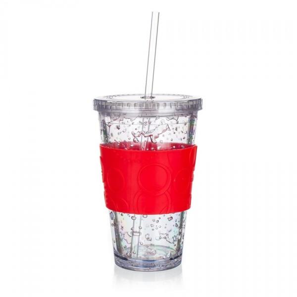 Banquet Téglik s chladiacou vložkou Double 450 ml, červená