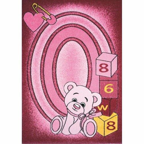 Spoltex Detský koberec Toys pink C 126, 133 x 195 cm