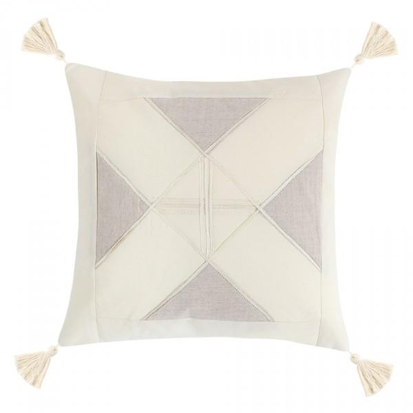 Bellatex Obliečka na vankúšik Peru Trojuholníky prírodná, 40 x 40 cm