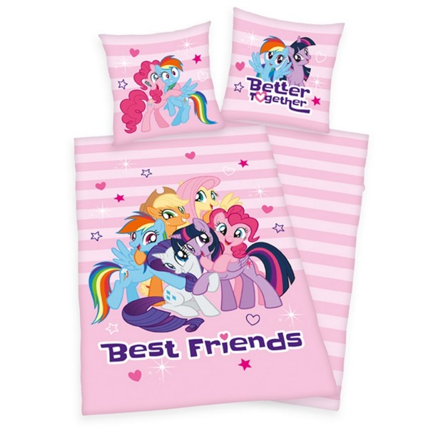 Herding Detské bavlnené obliečky My Little Pony, 140 x 200 cm, 70 x 90 cm