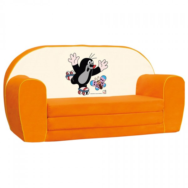 Bino Mini pohovka Krtko oranžová