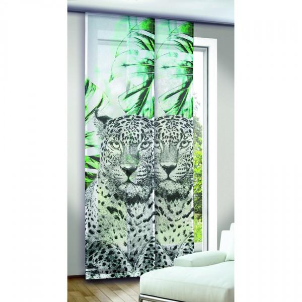 Albani závesový panel Leo zelenočierny, 245 x 60 cm