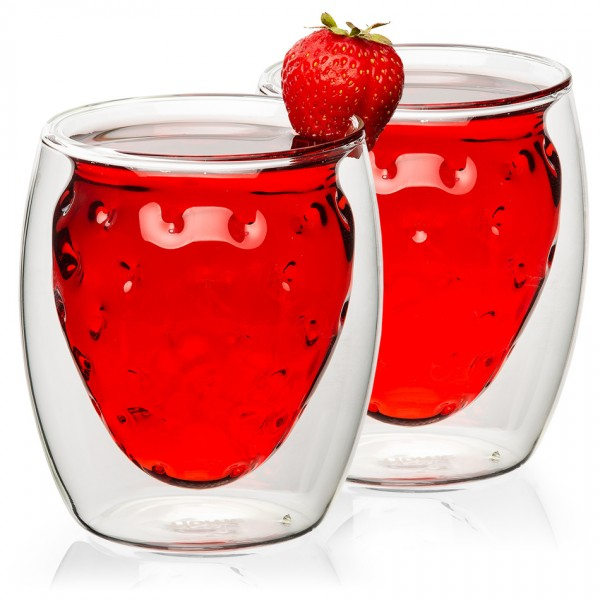4home Termo pohár Strawberry Hot&Cool, 250 ml, 2 ks