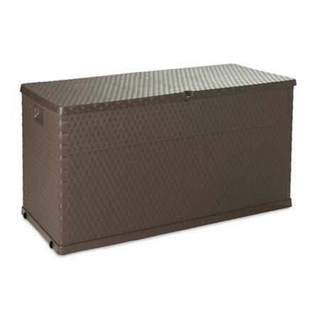 Rattan záhradný úložný box hnedá,