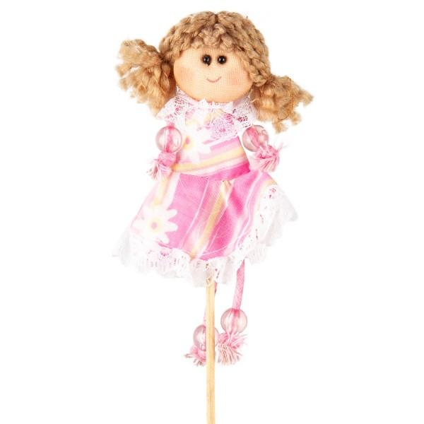 Zápich Bábika ružová, 39 cm