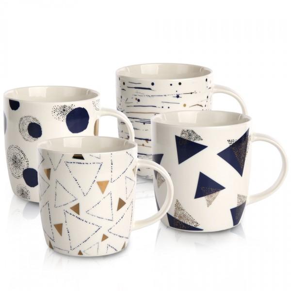 Altom Sada porcelánových hrnčekov Geometric, 340 ml, 4 ks