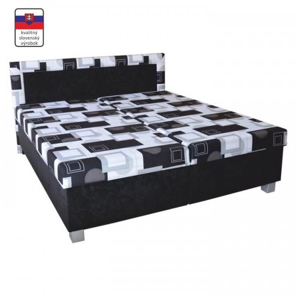 Manželská posteľ s úložným priestorom, s pružinovým matracom, 195x165 cm, MAJA