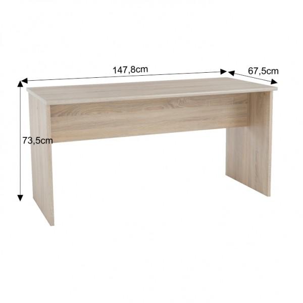 Písací stôl, obojstranný, dub sonoma, JOHAN NEW 08 JH112
