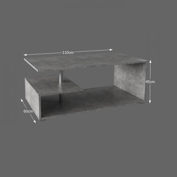 Konferenčný stolík, betón, DORISA