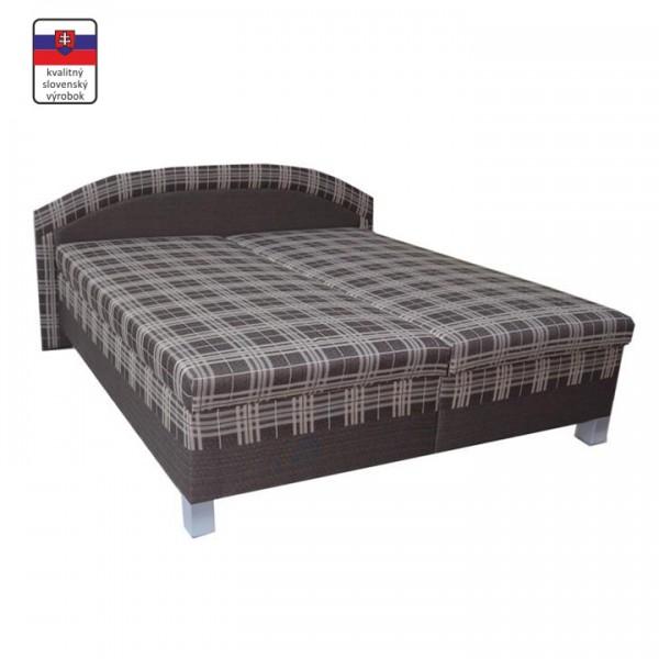 TEMPO KONDELA Manželská posteľ s úložným priestorom, molitánová, 180x200 cm, LUSYX