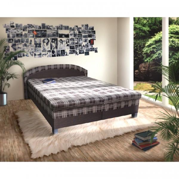 Manželská posteľ s úložným priestorom, molitánová, 180x200 cm, LUSYX
