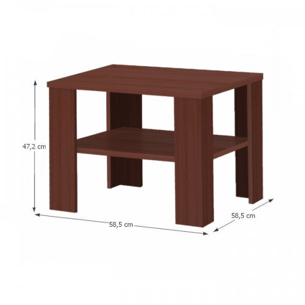 Konferenčný stolík, malý, gaštan wenge, INTERSYS 21