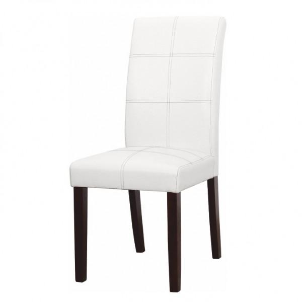 TEMPO KONDELA Jedálenská stolička, biela/tmavý orech, RORY 2 NEW